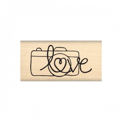 Timbro legno Florileges - Photo love