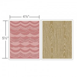 Embossing Folder Tim Holtz -  Drapery & Woodgrain Set