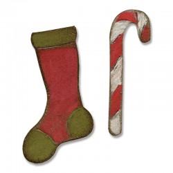 Mini Stocking & Candy Cane