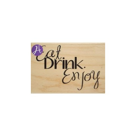 Timbro legno Hampton Art - Eat drink enjoy