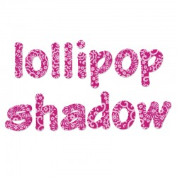 Fustella Sizzix Lollipop Shadow Lowercase Letters