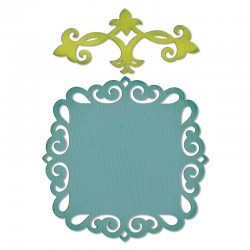 Fustella Sizzix Thinlits - Decorative Accent & Label