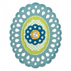 Fustella Sizzix Thinlits - Frame Layers & Flowers