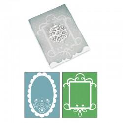 Card, Ornate 3 and Frames Set