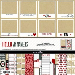 Kit carte Teresa Collins Hello My Name is