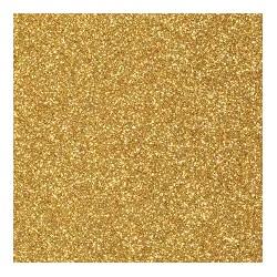 Gomma crepla  oro glitter - 20x30cm