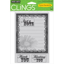 Timbri cling - Hero Arts Daisy Label