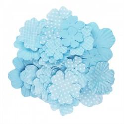 Fiori stampati kesi'art blu
