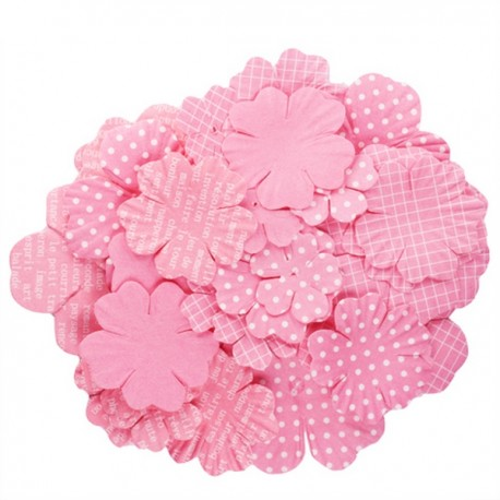 Fiori stampati kesi'art rosa