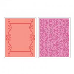 Fustella Sizzix TI -  Scroll Frame & Succulent Set