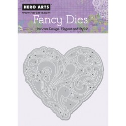 Fustella Hero Arts Fancy Dies Renaissance Heart