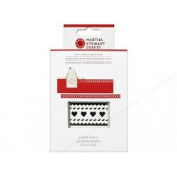 Punch 2-in-1 deep edge  striped hearts