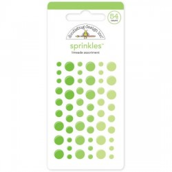 Sprinkles Enamel Dots Doodlebug Design - Limeade