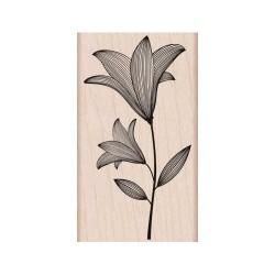 Timbro legno Hero Arts - Fiore con stelo