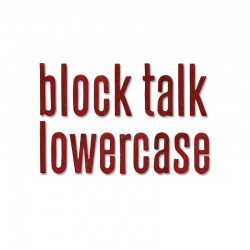 Fustella Sizzix Big XL T.holtz - Block Talk Lowercase