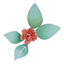 Fustella Sizzix Flower, Bloom w/Leaves 3-D