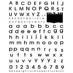 Timbri clear Artemio Alfabeto e numeri