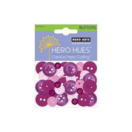 Bottoni Hero arts lilla viola