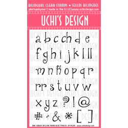 Timbro clear Uchi's Design - ABC Lower Case