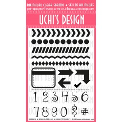 Timbro clear Uchi's Design - Numbers&Borders