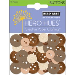 Bottoni Hero arts marrone beige