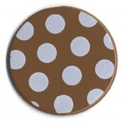 Polka dots Brads Bazzill - Walnut