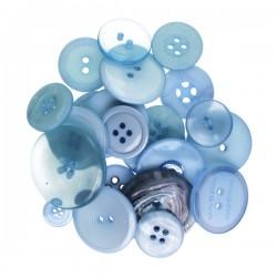 Bottoni Kesi'art-  Azzurro