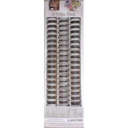 Zutter- 6 Spirali metalliche bianco 1inch