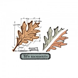 Fustella e timbro Sizzix Leaf Blueprint