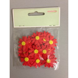 Fiori gomma EuroHobby - Margherite rosse