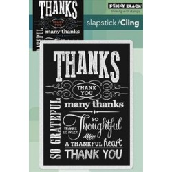 Timbri cling - Penny Black Chalkboard grateful