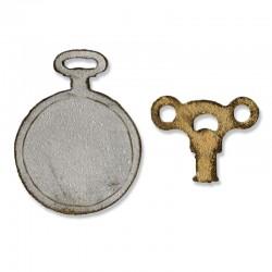 Fustella Sizzix M&S Mini Clock Key & Pocket Watch