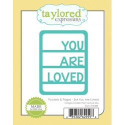 Fustella Taylored Expressions - Pocket & Pages - 3x4 You Are Loved