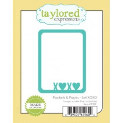 Fustella Taylored Expressions - Pocket & Pages - 3x4 XOXO
