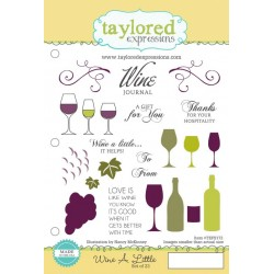 Timbri Cling Taylored Expressions - Wine A Little