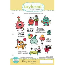 Timbri Cling Taylored Expressions - Party Monsters