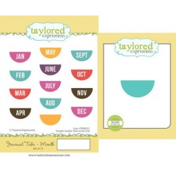 Timbri con fustelle Taylored Expressions - Journal Tabs - Month