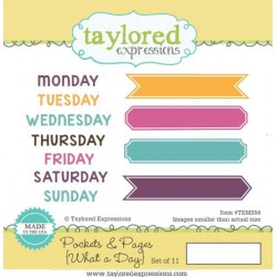 Timbri Cling Taylored Expressions - Pockets & Pages - What a day