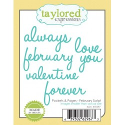 Fustelle Taylored Expressions - Pocket & Pages - February Script