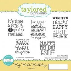 Timbri Cling Taylored Expressions - Big Bold Birthday