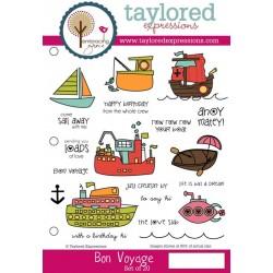 Timbri Cling Taylored Expressions - Bon Voyage