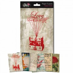 Pacco carte Glitz 5x7 - Paper Layers Happy Travels