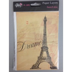 Pacco carte Glitz 5x7 - Paper Layers Franch Kiss