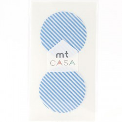 Carta washi cerchio mtCasa - Stripe light blue