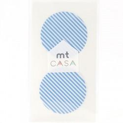 Carta washi cerchio mtCasa - Stripe light blue