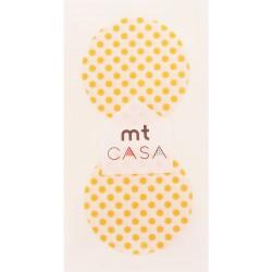 Carta washi cerchio mtCasa - Dot apricot