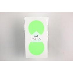 Carta washi cerchio mtCasa - Shocking green