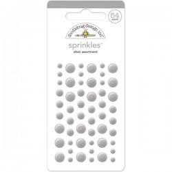 Sprinkles Enamel Dots Doodlebug Design - Silver