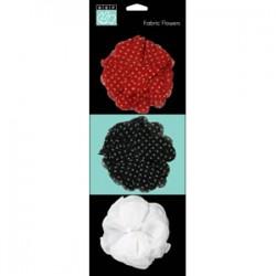 Fiori in tessuto Bazzill - Fabric Flowers
