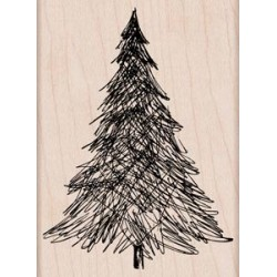 Timbro legno Hero Arts - Pen & Ink Christmas Tree